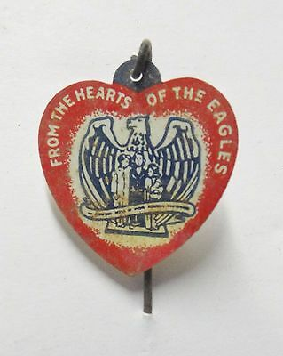 """Rare Vintage """"FROM THE HEARTS OF THE EAGLES"""" Stick Pin"""