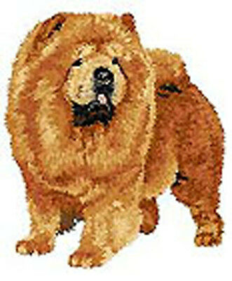 Chow Chow Portrait Standing Embroidery Patch (a)