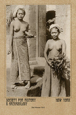 Bali Women 1910 PHOTO CARD VINTAGE CDV A++ Reprint