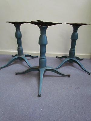 3 *QUALITY MADE* MATCHING ANTIQUE or VINTAGE  CAST IRON TABLE BASES