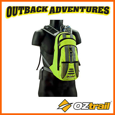 Oztrail Blue Tongue Hi-Viz 2L Yellow Hydration Pack Hiking Back Pack Bladder New