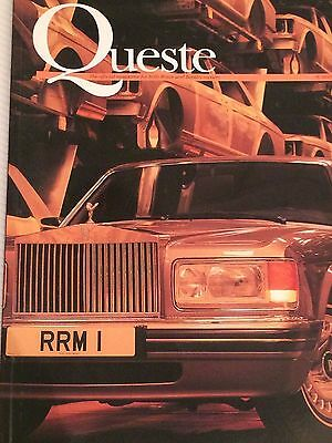 Official Rolls Royce Bentley owners magazine, rare vintage item, 1995