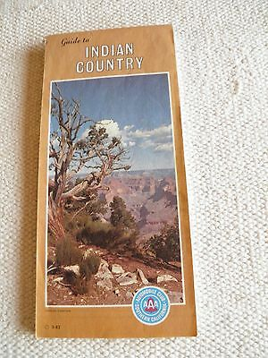1982 Aaa Map Of Guide Of Indian Country