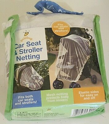 Goldbug Car Seat and Stroller Netting White Mesh