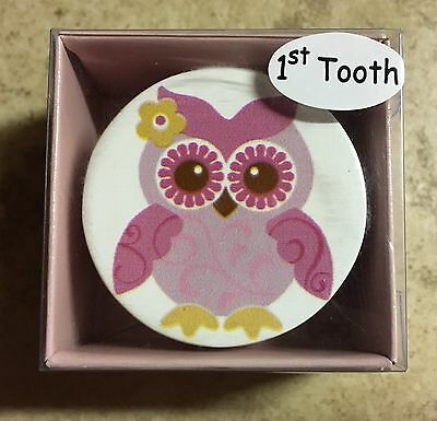 Girls First Tooth Owl Container New