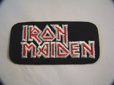 Vintage Rock N Roll Music Iron Maiden Iron On Patch
