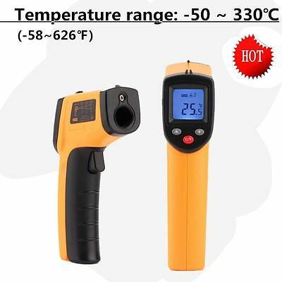 Temperature Gun Non-contact Infrared IR Laser Digital Thermometer Celsius & F HM