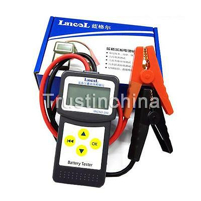 12V LCD Car Battery Load Tester Analyzer Digital Diagnostic AGM GEL Micro-200