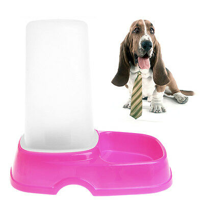 Automatic Puppy Pet Dog Cat Water / Food Feeder Fountain Bowl Dish Dispenser