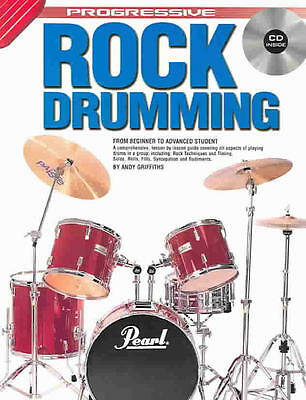 PROGRESSIVE ROCK DRUMMING Book includes CD Andy Griffiths 2004