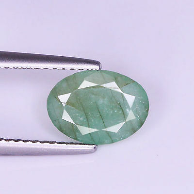 Stunning 1.68Cts Natural Green Emerald Oval Untreated Loose Gemstone