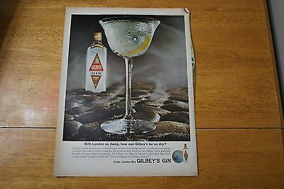 Gilbey's Gin - 1964 Life Magazine ad - Very Good