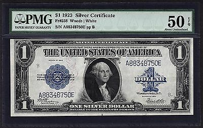 1923 $1 Silver Certificate PMG 50 EPQ One Dollar Bank Note Fr.238 #1533005-010