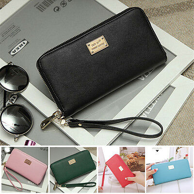 US STOCK Women Leather Wallet Lady Card Coin Holder Long Purse Clutch Zipper Bag
