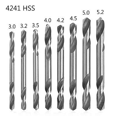 10Pcs 3/3.2/3.5/4/4.2/4.5/5/5.2mm HSS Double Ended Spiral Torsion Drill Tool Hot