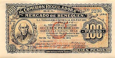 Mexico 100 Pesos  3.1.1915  S 1125 Series A Uncirculated Banknote