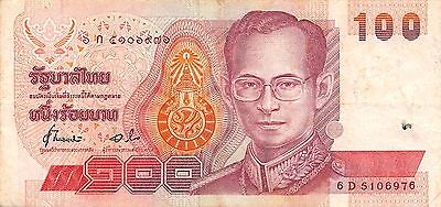 Thailand  100  Baht  ND. 1994  P 97  Series 6 D Circulated Banknote