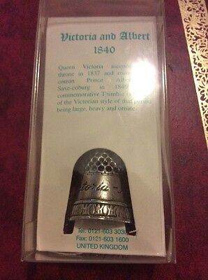 Westair pewter thimble.  Victoria and Albert.
