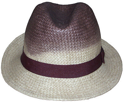 a9f97f41 PAUL SMITH STRAW Trilby Hat stripe Size M 55cm - 21.6