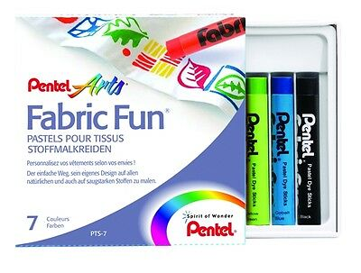 Pentel Stoffmalkreiden Fabric Fun Set 7 Farben TOP !!!