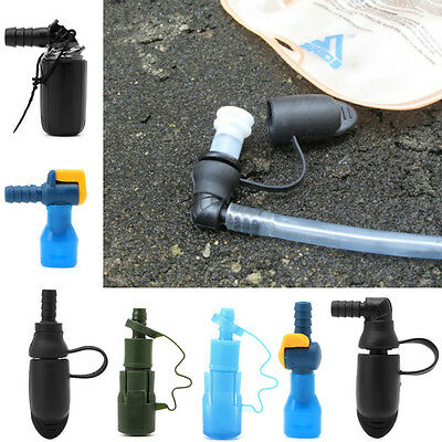Camping Water Bags Silicone 90 Degree Pack Suction Nozzle Bite Valve Outdoor New