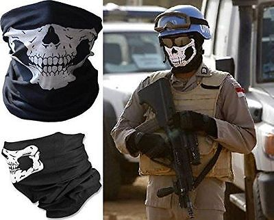 Bandana Scaldacollo Teschio Ghost Softair Moto Skull Gadget Idea Regalo Foulard