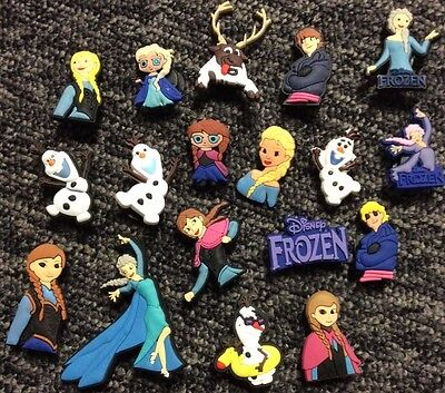 8 X Frozen Pvc Shoe Charms, Wristbands