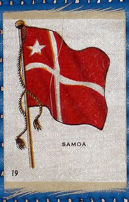 VINTAGE SILK CIGARETTE CARD FLAG OF 'SAMOA' No. 19