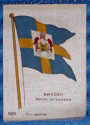 VINTAGE SILK CIGARETTE CARD 'SWEDEN ROYAL STANDARD' FLAG 7th SERIES No. 101
