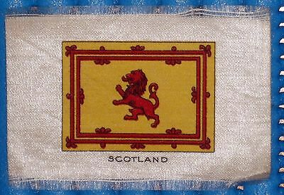 Vintage Silk Cigarette Card Flag Of 'Scotland'