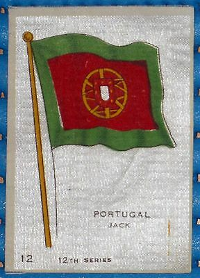 VINTAGE SILK CIGARETTE CARD 'PORTUGAL JACK' FLAG 12th SERIES No. 12