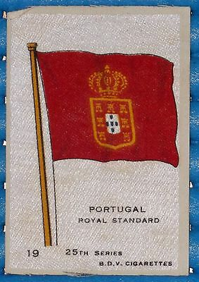 BDV SILK CIGARETTE CARD 'PORTUGAL ROYAL STANDARD' FLAG 25th SERIES No. 19
