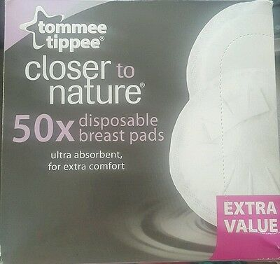 Tommee Tippee CLOSER TO NATURE 50 DISPOSABLE BREAST PADS  BNIB