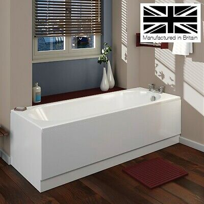 Trojan Cascade Bath Tub White Acrylic 1500/1600/1700mm 5mm 8mm Thick UK Made