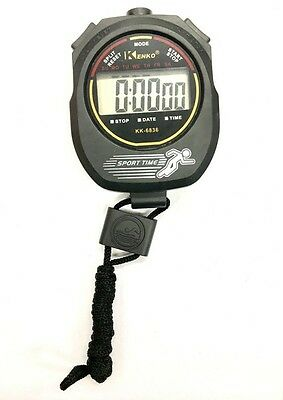 BRAND NEW - Digital Handheld Sports Stopwatch Stop Watch Timer Alarm Counter