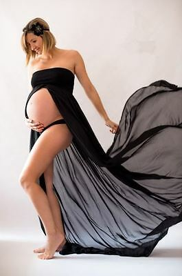 Black Strapless Maternity Dress Gown - Photography Photo Prop