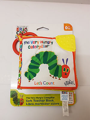 The World Of Eric Carle The Very Hungry Caterpillar, Soft Teether Book Brand New