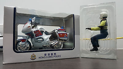 1/18 Welly BMW Official Hong Kong Police Traffic Motorcycle Model with Figurine