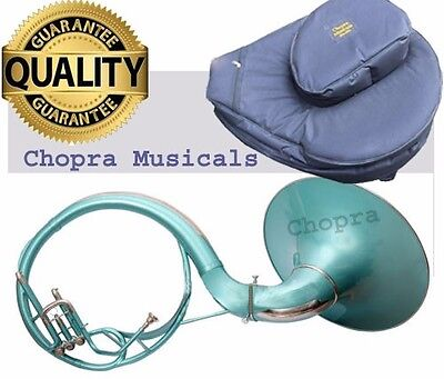 """Sale Sousaphone Painted Green 21"""" Bell Bb 3V BAG n MOUTH PIECE"""
