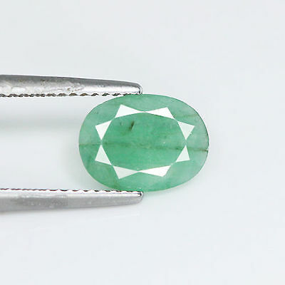 Fabulous Rich Look 1.50Cts Natural Green Emerald Oval Unheated Loose Gemstone