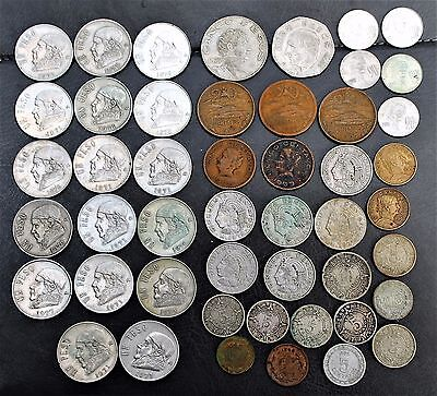 48 Mexico coins - Mixed lot - numerous old coins 1906-1970's Nice set of coins!
