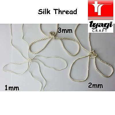 Silk Thread Cord 1mm 2mm 3mm Cream Twisted Embroidary Embroidery Dressmaking