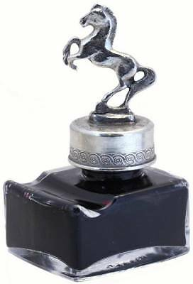 Coles Calligraphy Pewter Horse Ink Bottle