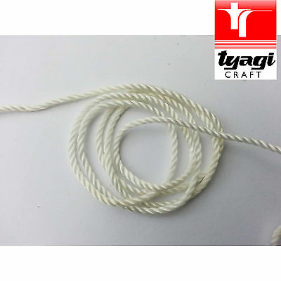 Nylon Thread Cord 2mm White Twisted Embroidary Embroidery Dressmaking