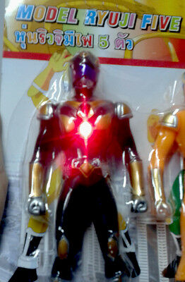 5 ROBOTS COLOR THAILAND POWER RANGER TOY SMART MAN COLLECTIBLE, Do not know NEW