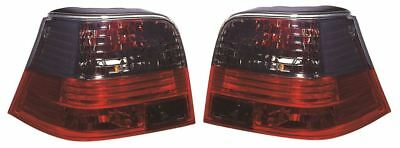 VW Golf Mk4 Hatchback 1998-2004 Rear Tail Lights Lamps Crystal Smoked Red 1 Pair