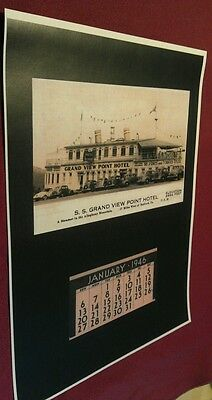 1946 Grand View Point Ship Hotel Calendar Bedford Pa Lincoln Highway Poster