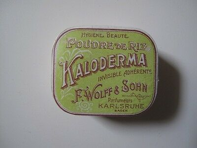 Germany Baden Kalsruhe Kaloderma Antique Rice Powder  Box Full
