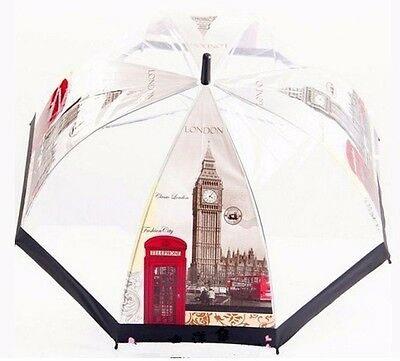 Transparent Bubble Dome Umbrella - Clear See Through Birdcage shape - London