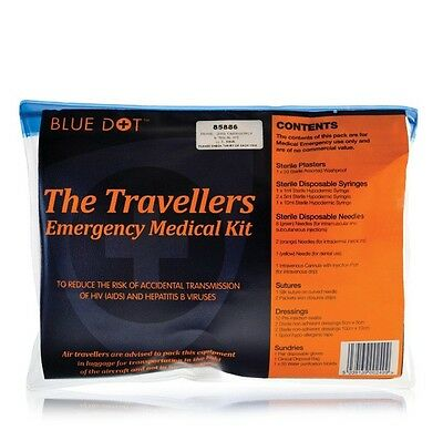 Travellers Emergency Medical Kit - Sterile - First Aid, Camp, Travel, Travelling